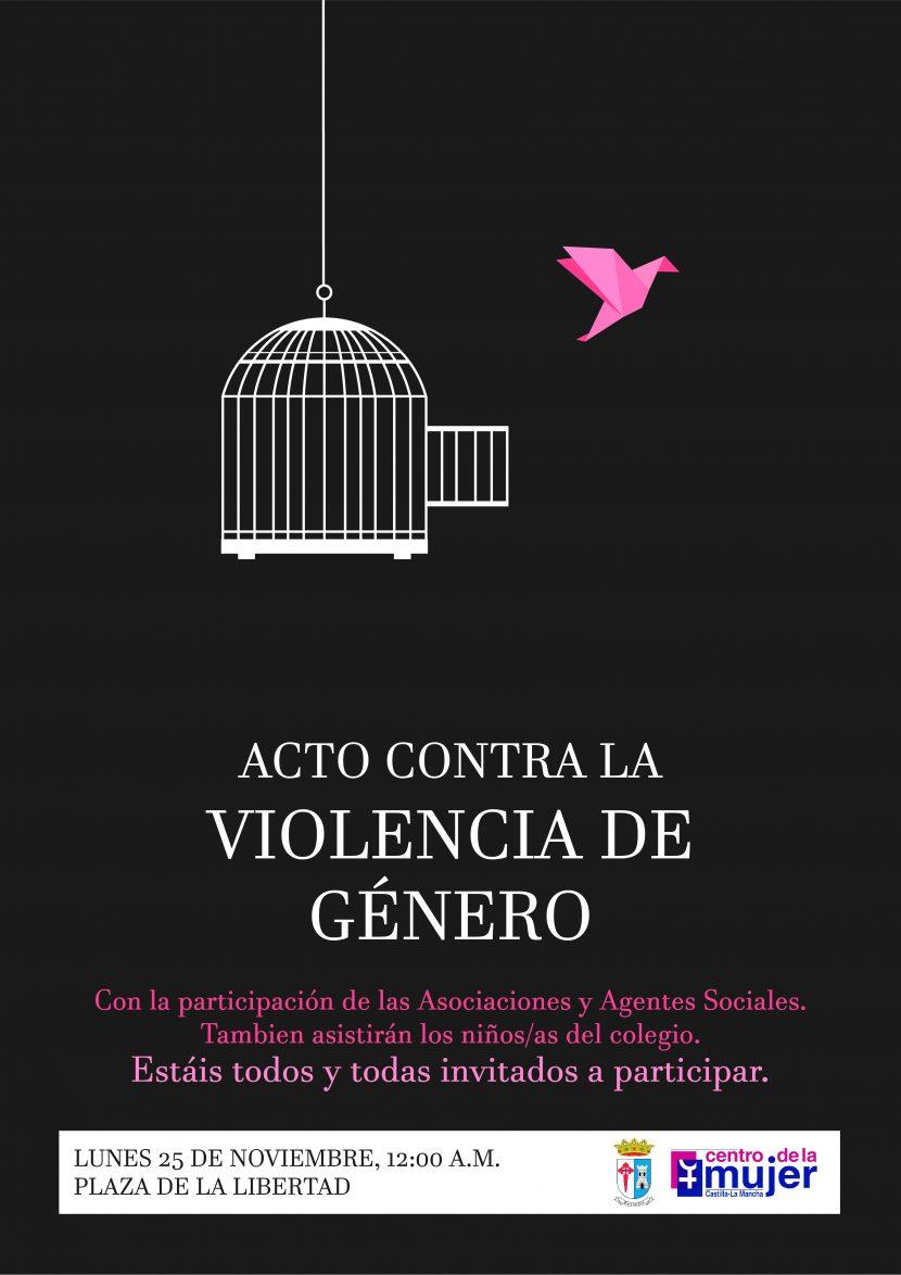 cartel contra la violencia de genero